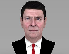 Ronald Reagan bust ready for full color 3D