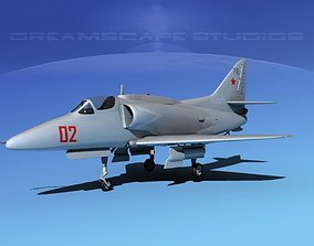 Douglas A-4G Skyhawk V06 USN Aggr 3D model