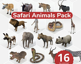 16 African Safari Pack 3D model
