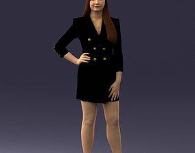 3D model Girl posed 0708