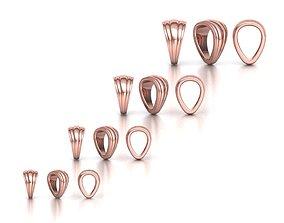 BAILS LOOP PACKAGE for Pendants 3D printable model 2