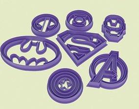 3D print model Super hero logo cookie cutters