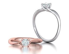 3D print model Paradise Engagement ring own design 0171