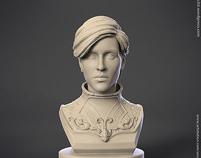Knight warrior girl statue figurine for 3d