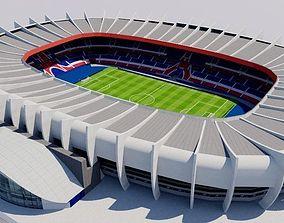Parc des Princes - Paris Saint Germain PSG 3D asset