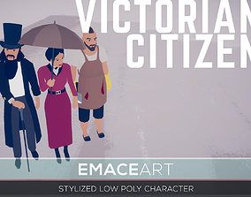 Victorian Citizens 3D Stylized Modular Low Poly realtime