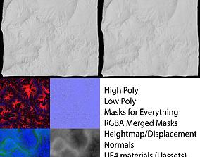 3D asset Background Mountain 1