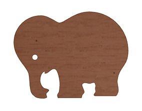 3D model Wooden elephant
