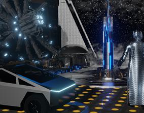 3D sci fi ToWn