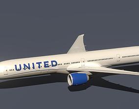 3D United Boeing 777-300ER