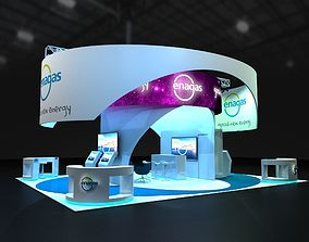 Exhibition Stand 11x9 3D asset