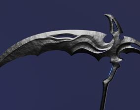 Fantasy Scythe 3D model low-poly
