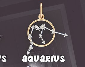 pendant 3D print model AQUARIUS PENDANT