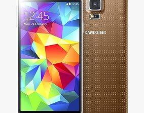 phone Samsung Galaxy S5 Gold 3D