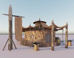Tribal Hut 3D model 3dsmax