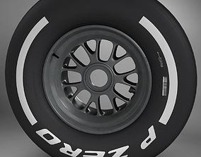 3D model F1 tyre medium front