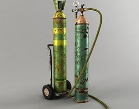 3D asset Oxygen Tank Low Poly