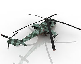 military helicopter 3D military-truck