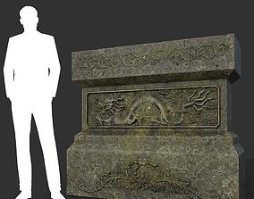 3D asset Low poly Ancient Dragon Temple Element 06 190909
