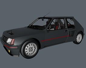 turbo Peugeot 205 TI16 Turbo coupe car 3D