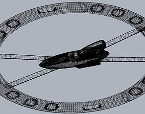 3D printable model Futuristic Ring-Wing Saucer Airplane