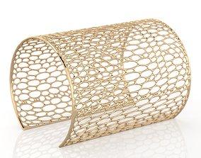 3D print model Voronoi Long Bracelet