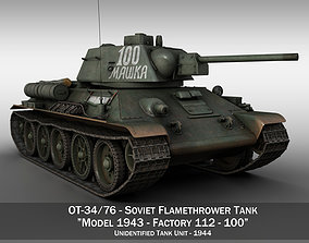 OT-34-76 - Soviet Flamethrower Tank - 100 3D