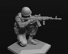 Modern soldier 2 52mm 120mm 3D print model weapon