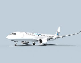 Bombardier CS100 Odyssey 3D model