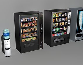 Office Drink Machines Low Poly 3D model