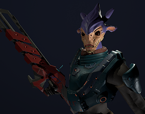 3D model rigged Alien character