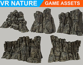 Low poly Realistic Cave Wall Pack 180611 3D asset