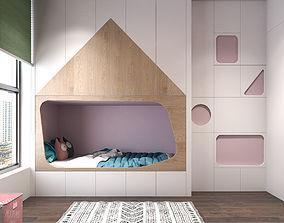 Children bedroom minimalism 3D