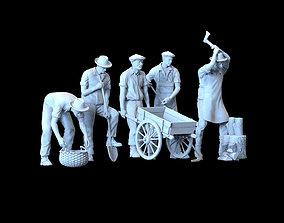 working people worker 3D print model