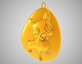 Rock Dog Necklace 3D print model