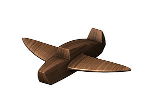 3D printable model Wood airplane toy