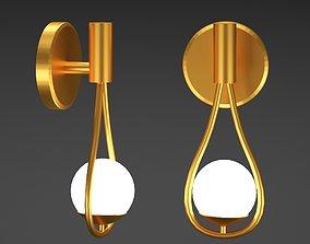 3D asset Nordic Glass Ball Chandelier