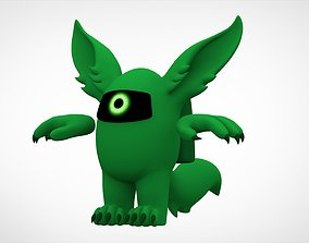3D asset Among Us Green Werewolf
