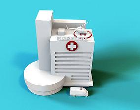 3D asset VR / AR ready Hospital Building emergency