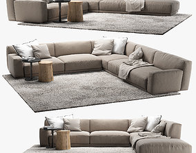 3D model paris-seoul Poliform Paris Seoul sofa 4