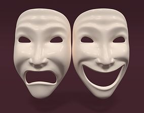 Theater Mask V2 3D asset