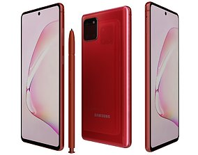 3D model Samsung Galaxy Note10 Lite Aura Red