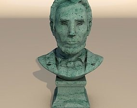 Abraham Lincoln patina bust 3D