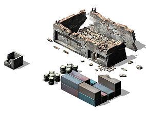 3D model Future World - Ruins 02