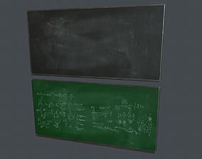 Blackboard Pack PBR Game Ready 3D model