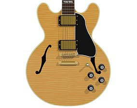 3D Guitar - Gibson ES Hollow Body - Flamed Maple Finish