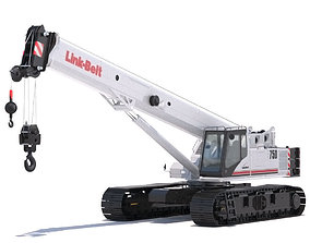 3D Link Belt TCC-750 Telescopic Crawler Crane