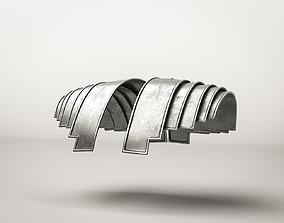 Roman Armor Soldier Militar Spaulder 3D asset PBR
