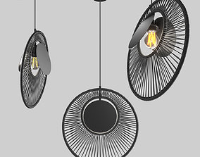 3D chandelier SUSPENSION OYSTER NOIR