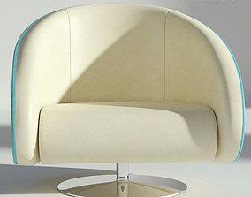 3D Leather Rotating Armchair